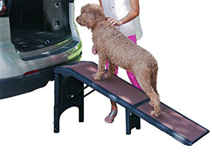 Dog Ramps for Car Side Doors - Pet Gear Free Standing Pet Ramp