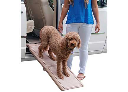 Dog Ramps for Car Side Doors - Pet Gear Travel Lite Bi-Fold Half Ramp