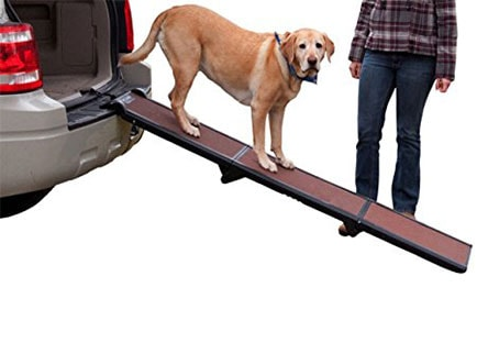 Dog Ramps for Car Side Doors - Pet Gear Tri-Fold Ramp