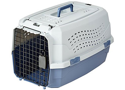 Best dog crate reviews - AmazonBasics Two-Door Top-Load Pet Kennel