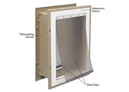 Best Smart Pet doors - PetSafe Wall Entry Aluminum Pet Door
