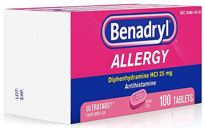 Putting a dog to sleep with benadryl